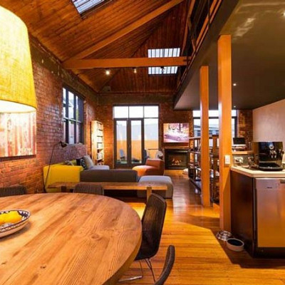 Clifton hill Kitchen Meals Living area loft renovation